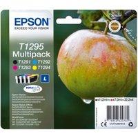 Image of Epson T1295 Black Cyan Magenta Yellow Ink Cartridge (Pack of 4)