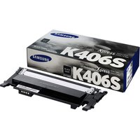 SamsungCLT-K406S Black OriginalToner Cartridge - Standard Yield 1500 Pages - SU118A