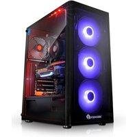 PC Specialist Vanquish Zen Fury Pro Gaming PC, AMD Ryzen 7 2700X 3.7GHz, 16GB DDR4, 1TB HDD, 256GB SSD, NVIDIA RTX 2080 8GB, WIFI,