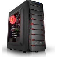 PC Specialist Vanquish Redline Gaming PC, AMD Athlon 200GE 3.2GHz, 8GB DDR4, 1TB HDD, AMD VEGA, WIFI,
