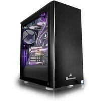 PC Specialist Vanquish Hellfire II Gaming PC, Intel Core i7-9700K 8Core 3.60GHz, 16GB DDR4, 3TB HDD, 256GB SSD, NVIDIA RTX 2080 8GB, WIFI,