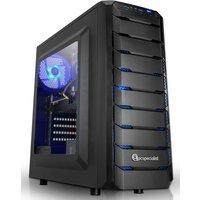 PC Specialist Cyclone 1660Ti Gaming PC, Intel Core i7-8700 3.2GHz, 16GB DDR4, 256GB SSD, 1TB HDD, NVIDIA GTX 1660Ti 6GB,  64bit