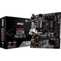 MSI A320M PRO-M2 V2 AM4 DDR4 mATX Motherboard