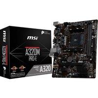 MSI A320M PRO-E AM4 DDR4 mATX Motherboard