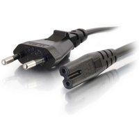 C2G 2m European Non-Polarised Power Cord CEE 7/7 to IEC 60320 C7