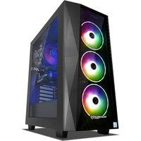 PC Specialist Renegade ST 2060 Gaming PC, Intel Core i7-9700 3.00GHz, 16GB RAM, 3TB HDD, 256GB SSD, NVIDIA GeForce RTX 2060, WIFI,