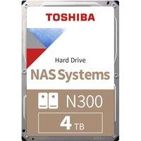 Toshiba N300 4TB High-Reliability NAS Hard Drive