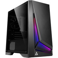 Antec DP301M Dapper Dark Phantom Gaming Case with Window, Micro ATX, No PSU, Tempered Glass, ARGB Front Panel