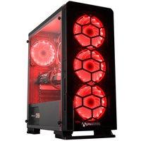 AlphaSync Gaming Desktop PC, AMD Ryzen 5 3600, 16GB RAM, 1TB HDD, 240GB SSD, Radeon RX 5700 XT, WIFI, Windows 10 Home