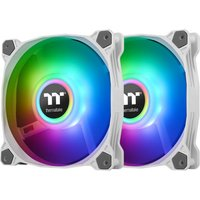 Image of Thermaltake Pure Duo 14 140mm White ARGB Sync Radiator Fans - 2 Pack