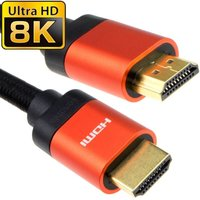 0.5m 8K HDMI 28awg Copper Aluminium Hood Black Braid B/Q 10