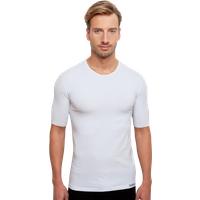 Unterhemd mit Rundhals-Ausschnitt in Weiß für Herren