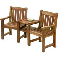 Balmoral Wooden Love Seat