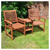 Tornio Wooden Love Seat