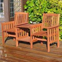 Garden Wooden Love Seat