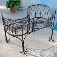 Garden Division 2 Seater Steel Love Seat