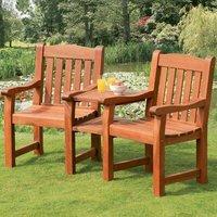 Verona Wooden Love Seat
