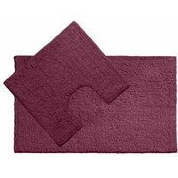 cotton 2piece bath rug set