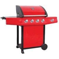 Mastercook 5-Burner Portable Liquid Propane Gas Barbecue Grill