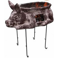 Asador Cerdito Steel Wood/Charcoal Chiminea