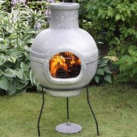 Cozumel Large BBQ 2 Part Steel Wood/Charcoal Chiminea