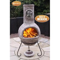 Cruz Mexican Steel Wood/Charcoal Chiminea