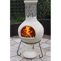 Flor Mexican Steel Wood/Charcoal Chiminea