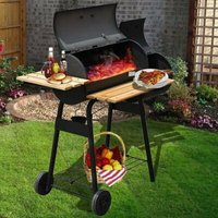 Charcoal Barbecue with Side Shelf 3