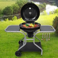 Charcoal Barbecue with Side Shelf IV