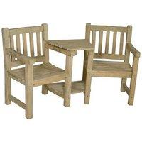 Harvington Wooden Love Seat