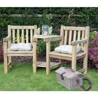 Harvington Wooden Love Seat