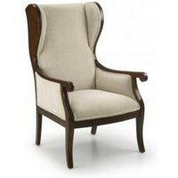 Armchair with winged backrest