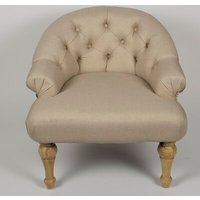 Linen with Printed Back Paris Armchair