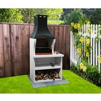53cm Firenze Charcoal Built-in Barbecue with Side Table