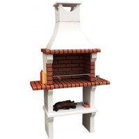59cm Florida Masonry Charcoal Built-in Barbecue with 2 Side Table