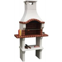 53cm Veneto Masonry Charcoal Built-in Barbecue with 2 Side Table