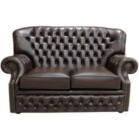 Chipman Genuine Leather 2 Seater Loveseat Sofa