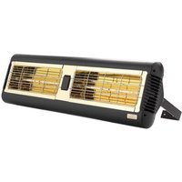 Double Ultra Low Glare Monaco Quartz Infrared Electric Patio Heater