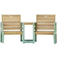 Osier 2 Seater Timber Love Seat