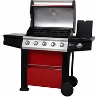 Connoisseur Ultra Deluxe 5-Burner Portable Natural Gas Barbecue Grill with Si.