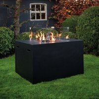 Rectangular Lounge and Dining Propane Gas Fire Pit