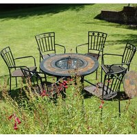 Durango 6 Seater Dining Set with Firepit