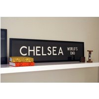 Vintage London Bus Blind  CHELSEA (WORLDS END) - Chelsea Gifts