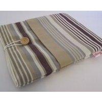iPad Case  Beige and Purple Stripe - Ipad Gifts