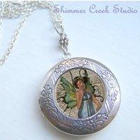 Locket, Fairy Locket, Photo Locket, Fairy Necklace, Fantasy Jewelry - Fairy Gifts