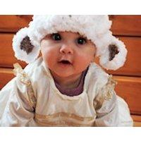 Baby Hat Preemie Newborn Lamb Sheep Farm Animal Beanie Baby Shower Gift Crochet White Brown Preemie Baby Hat Infant Photo Prop Winter Hat - Farm Gifts