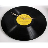 Johnny Cash Vinyl Record CLOCK made from recycled 12 album,. On the SUN label. Cool retro look... - Johnny Cash Gifts