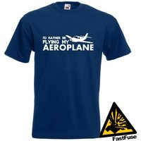 Id Rather Be Flying My Aeroplane TShirt Joke Funny Pilot RC Plane - Rc Gifts