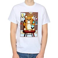 Ted TShirt, Bong Smoking Teddy Bear Shirt, 420 Day Stoner Gift, Legalise Weed Clothing, Cannabis Marijuana Pot White Unisex Graphic Tee - Cannabis Gifts
