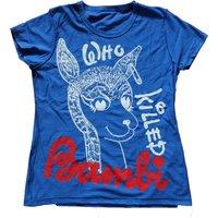 Who Killed Bambi  Punk Tshirt  Sex Pistols Rock  Roll Swindle Black BlueFitted Tee Womens Small 32 petite - Sex Pistols Gifts